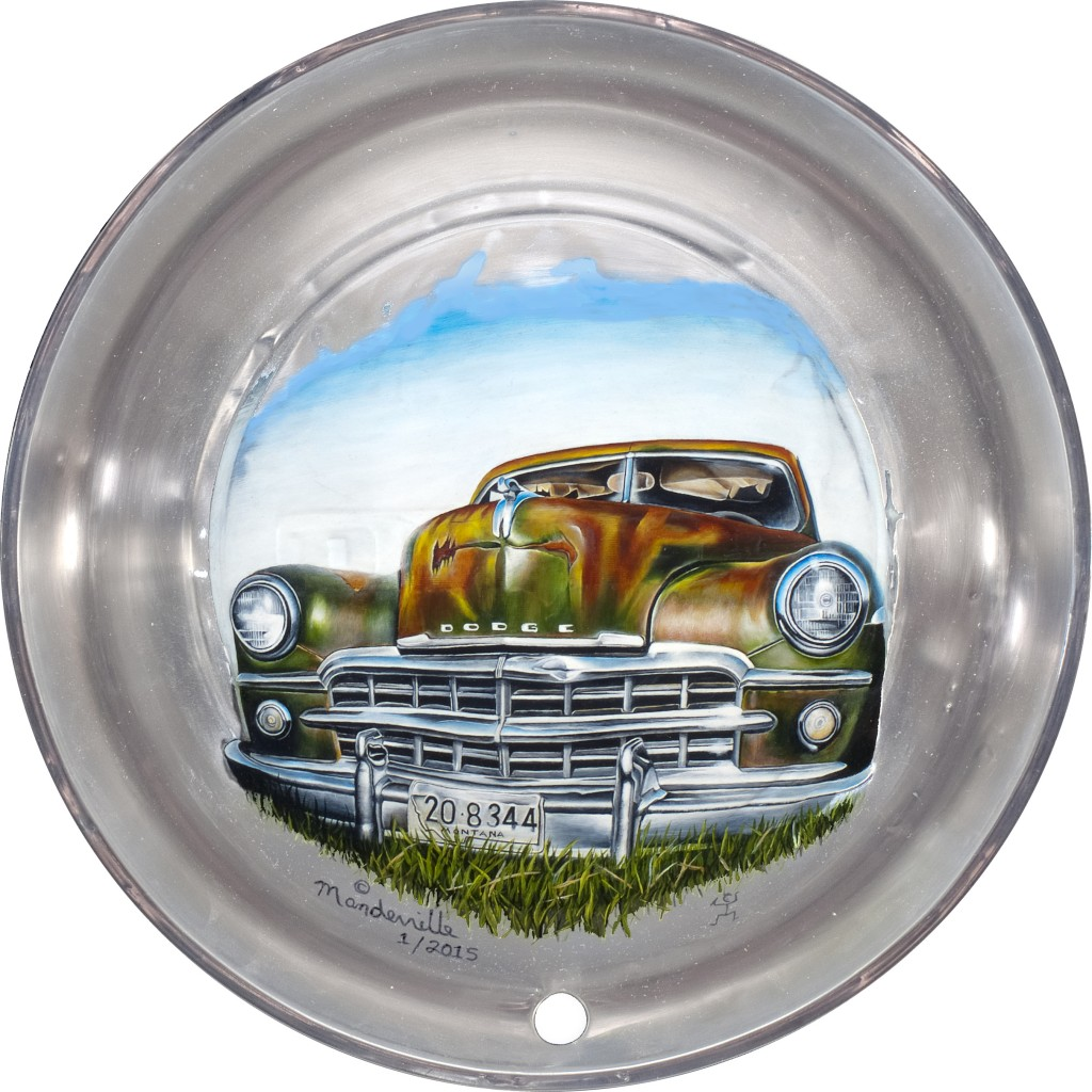 Painted Hubcap on white